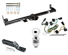 Trailer Tow Hitch For 98 06 Jeep Wrangler TJ Complete Package Wiring