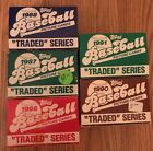 Topps Baseball Traded Series & Score Rookie & Traded Set 86 87 88 90 91 1986