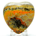 45mm Bumble Bee Jasper Heart Natural Sparkling Crystal Banded Mineral Indonesia