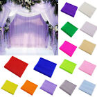 5m Crystal Tulle Fabric Organza DIY Craft for Wedding Party Home Decoration New