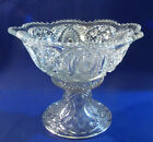 Vintage Large Glass Crystal?? PUNCH BOWL and Stand