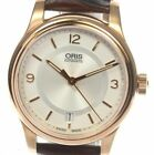 AUTHENTIC ORIS CLASSIC date 01 733 7578 4831-07 6 18 10 SS Men's Watch Used F/S
