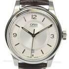 AUTHENTIC ORIS CLASSIC date 01 733 7578 4031-07 5 18 10 SS Men's Watch Used F/S