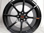 17x8 4x100 Custom Wheels Rims SET of 4 Gloss Black NEW