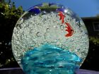 Gigantic 65 WIde Blown Glass Dolphin Paperweight Sphere 18 Pounds