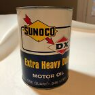 Sunoco DX Extra Heavy Duty Motor Oil One Quart Cardboard Can Petroliana
