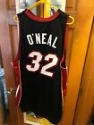 NWT Authentic Miami Heat Adidas Shaquille O'Neal Jersey, Black, Size 52