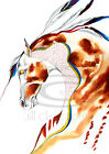 Native American Indian Appaloosa War Horse Painting Print Art  Jill Claire