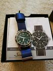 Sinn 104 St Sa A G, sold out green version, extra straps, only a few months old!