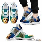 Beautiful Goldendoodle Print Sneakers For Men White Black Free Shipping