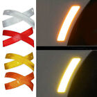 2pcs Car Body Bumper Reflective Safety Warning Strip Sticker Decal Accessories