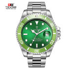 TEVISE Mens Luxury Automatic Mechanical Submariner Wrist Watch Diver HULK GREEN