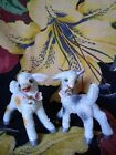 Vintage Anthropomorphic Lamb Salt Sugar Glazed Ceramic Pair Made In Japan