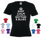 Keep Calm and listen to Rhythm and Blues Ladies Music Genre T shirt