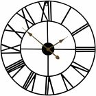 Sorbus Wall Clock 24 Round Oversized Centurian Roman Numeral Style Home