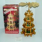 Vintage Weinhacts Pyramide 4 Tier Wood Windmill German Nativity Christmas in Box