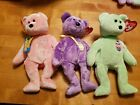 Ty Beanie Babies Rare Retired Eggs 2007, 2008 & III Easter Bears Tags