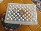 Vintage Clear and Opaque Hobnail Box with Lid