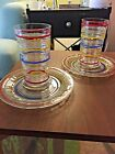 VINTAGE Paneled Rings Cocktail Sets 1927-1933 RING DING very rare sets Luncheon