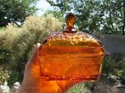 Vintage Amber Indiana Glass Bee Dish and Lid Footed