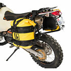 Pannier Racks with Wolfman Expedition Dry Saddle Bags Yellow for KTM 990 Adv