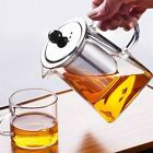 Heat Resistant Clear Glass Teapot Jug With Infuser Coffee Tea Leaf Herbal Pot US