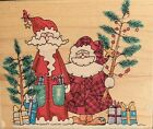 Penny Black Wood Rubber Stamp Santa Christmas Duo 1272K 1998 NEW