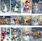 Christmas Snowman Santa Full Drill 5D Diamond Painting Cross Stitch Kit Xmas Gif