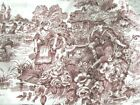 Waverly Woodland Toile Upholstery Decor Fabric by the yard Brown