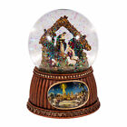 Christmas Nativity Musical Snow Globe Glitterdome Plays Tune OHoly Night