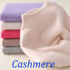 Womens Slim cozy Knitted Half Turtleneck Cashmere wool Jumper Pullover Sweater