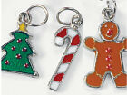 6 Christmas Candy Metal Enamel Charms 5 8 inch Winter Jewelry Crafts ABCraft