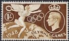 Great Britain 1948 KGVI 1 Olympic Games with Spot below 9 Variety MUH