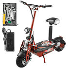 Folding Electric Scooter with Large Wheels Powerful 48v 1000w Motor Red