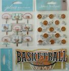Jolees Boutique Scrapbooking Stickers Lot BASKETBALL Sports Hoops