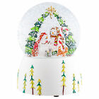 Musical Snowman Nativity Winter White 6 inch Resin Christmas Snow Globe Dome