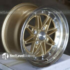 Circuit CP24 15x8 4 100 +25 Gold Wheels Fits Acura Integra DC2 Equip 03 Style