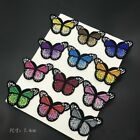 10Pcs Butterfly Clothes Embroidery Decor Sew Iron on Patch Badge Embroidered US