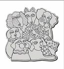 Stampendous Cling Rubber Stamps Laurel Burch Dog Group Canine Clan