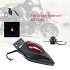 Black 12V Retro Motorcycle 3 lines LED Brake Tail License Plate Integrated Light