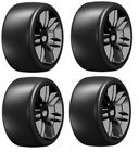 NEW GRP Mounted Belted TIres Black Slick 17mm S5 1 8 Buggy