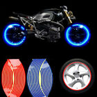 16pcs Motorcycle Car 18 inch Wheel Hub Tyre Rim Decal Tape Sticker Accessories