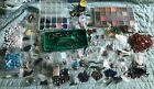 HUGE Jewelry Making Supplies Lot Glass Seed Beads Stone Beads Cases Etc
