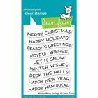 Lawn Fawn Clear Photopolymer Stamps Christmas WInter Wavy Sayings