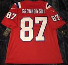 Rob Gronkowski New England Patriots LIMITED STITCHED AUTHENTIC RED Jersey - L