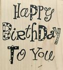 Printworks Collection Happy Birthday Wood Mounted Rubber Stamp G3345