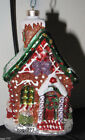 Rare Christopher Radko Christmas Ornament Gingerbread Man Candy House Cottage