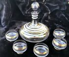 Harder to Find Design Mid Cent Bohemian Amethyst Glass Aperitif Decanter Set