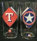 4 Collectible 1994 Texaco TEXAS RANGERS BASEBALL CLUB All-star game beer glasses