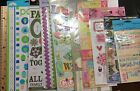 Extra Large Sticker Sheets  Rub Ons Scrapbook Paper Crafts Lot Of 9